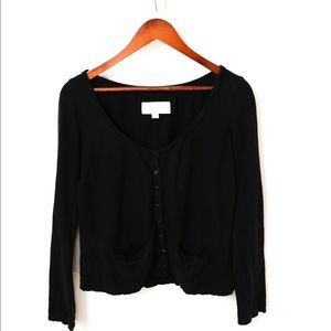 American Eagle Black Button Up Cardigan